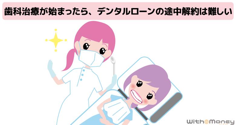 歯科治療を受ける女性