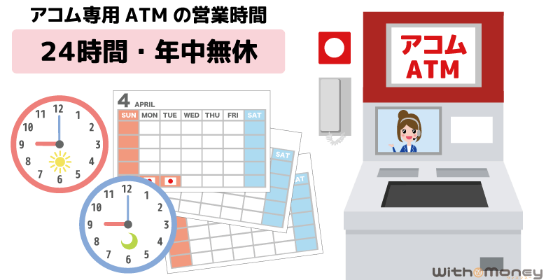 アコム専用ATMの営業時間