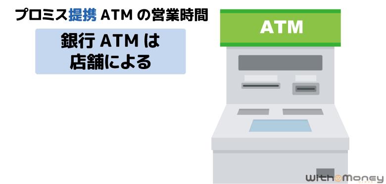 プロミス提携先の銀行ATMの営業時間
