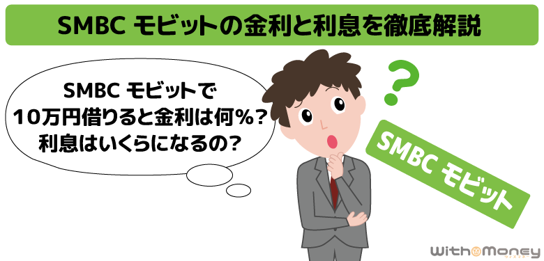SMBCモビットの金利の仕組みと利息の計算方法