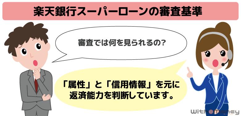 楽天銀行スーパーローンの審査基準