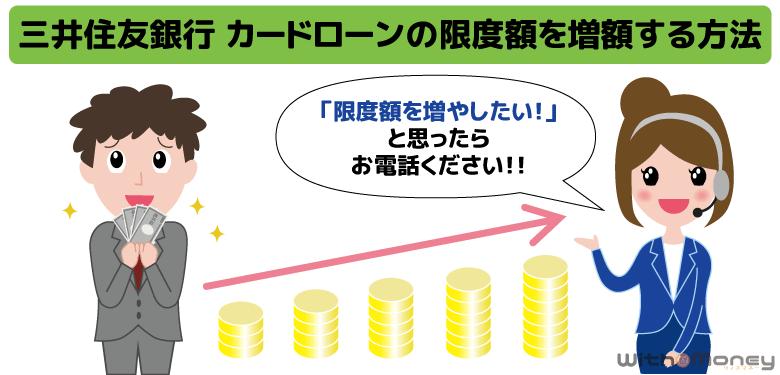 三井住友銀行 カードローンの限度額を増額する方法