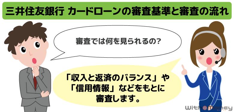 三井住友銀行 カードローンの審査基準と審査の流れ